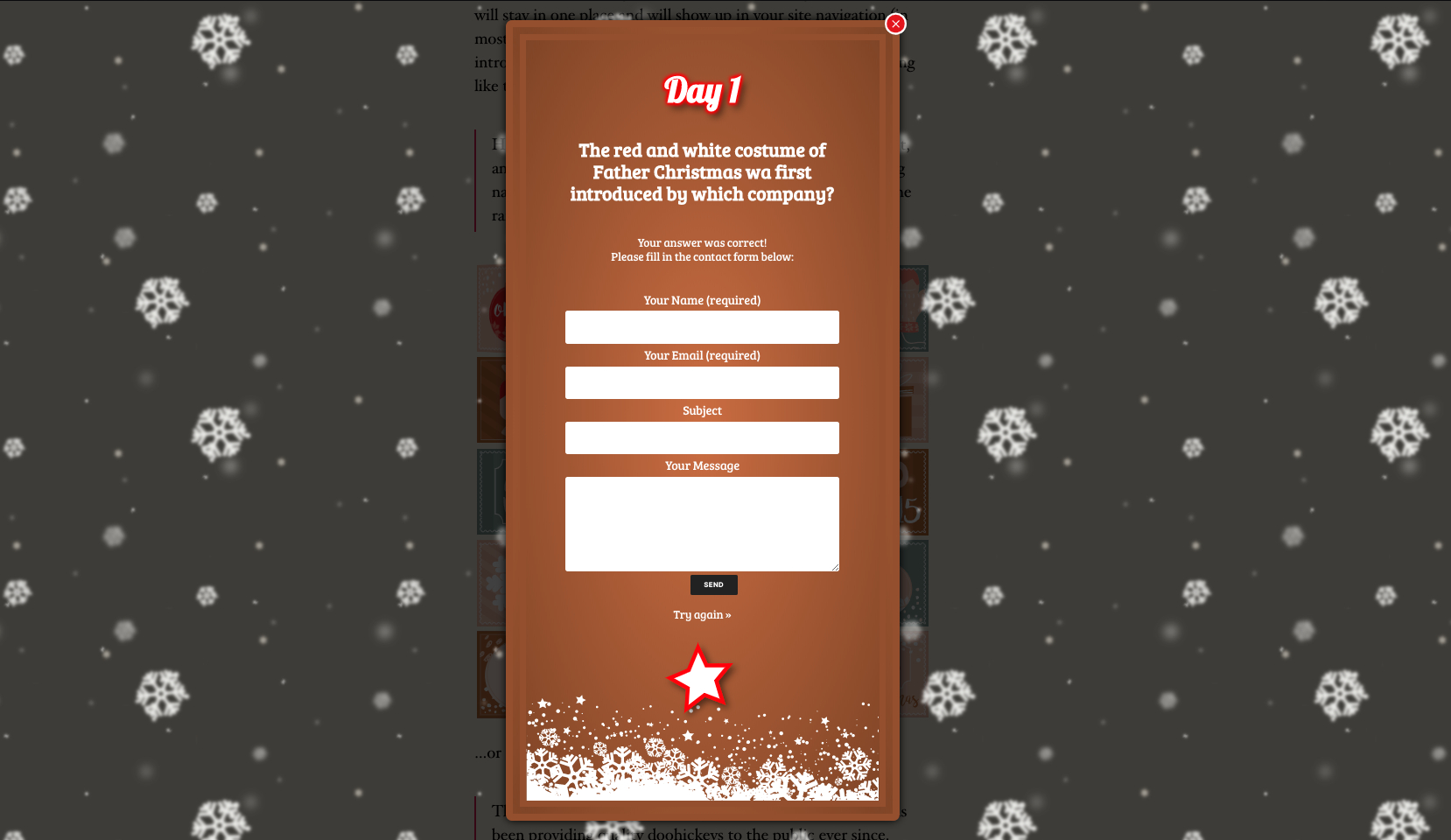 Santapress  WordPress Advent Calendar Plugin & Quiz pertaining to Advent Calendar WordPress Plugin