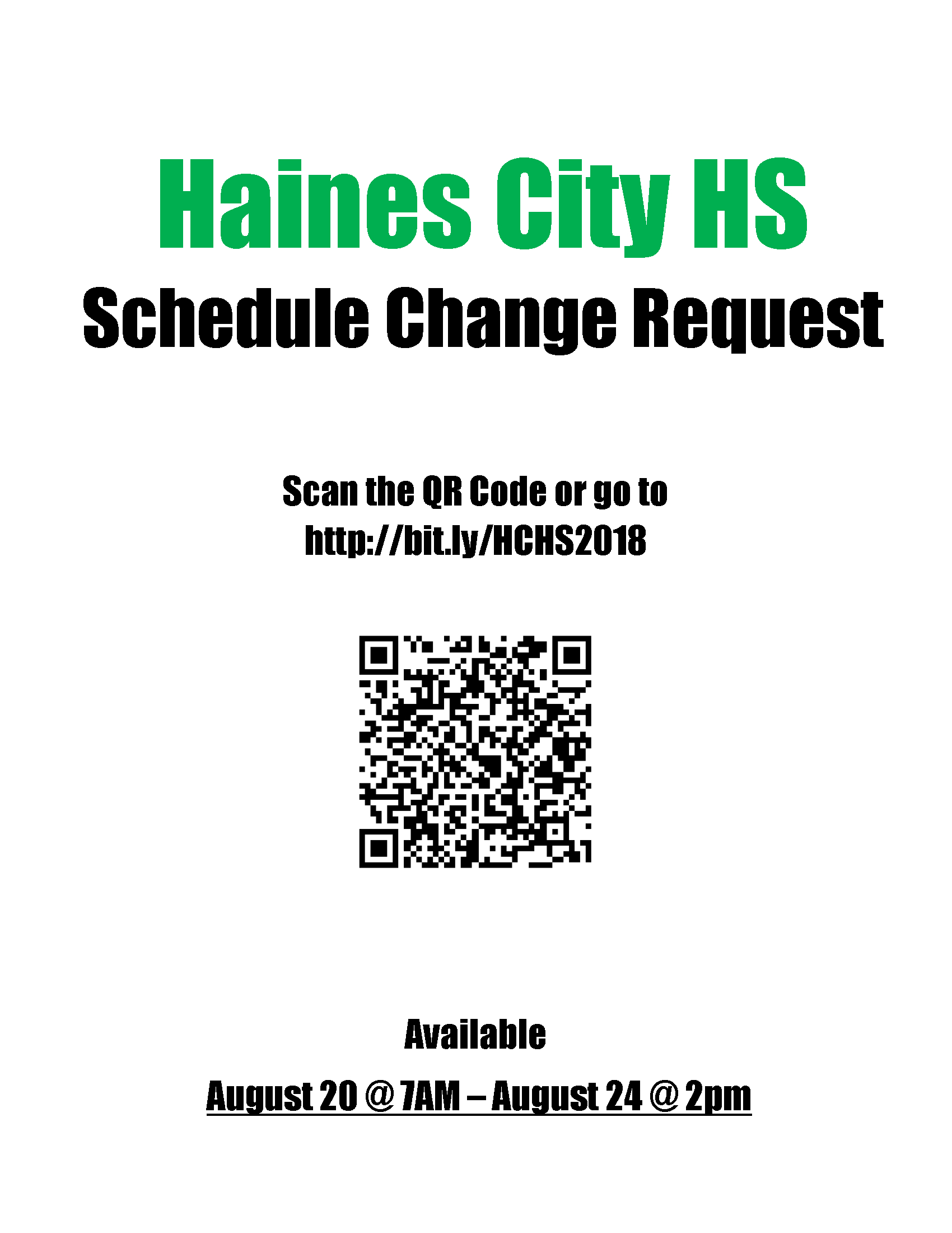 Schedule Change Flyer 1819 – Haines City High School regarding Haines City High School Bell Schedule