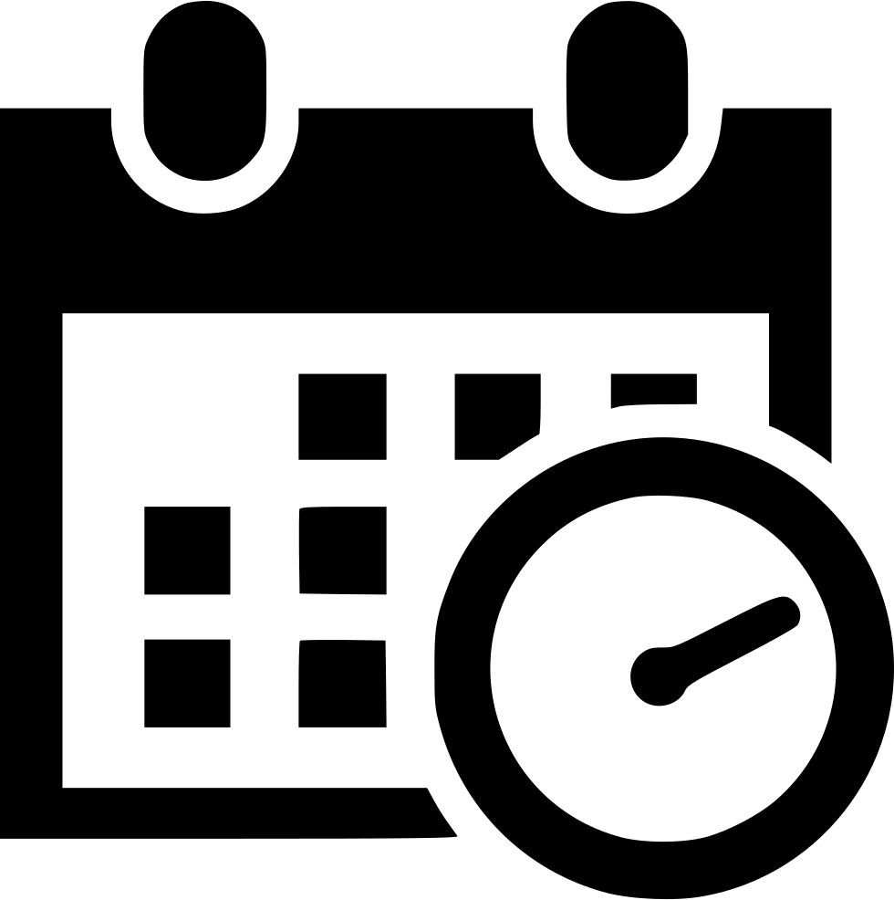 Schedule Icon Transparent #354143  Free Icons Library with Calendar Icon Noun Project