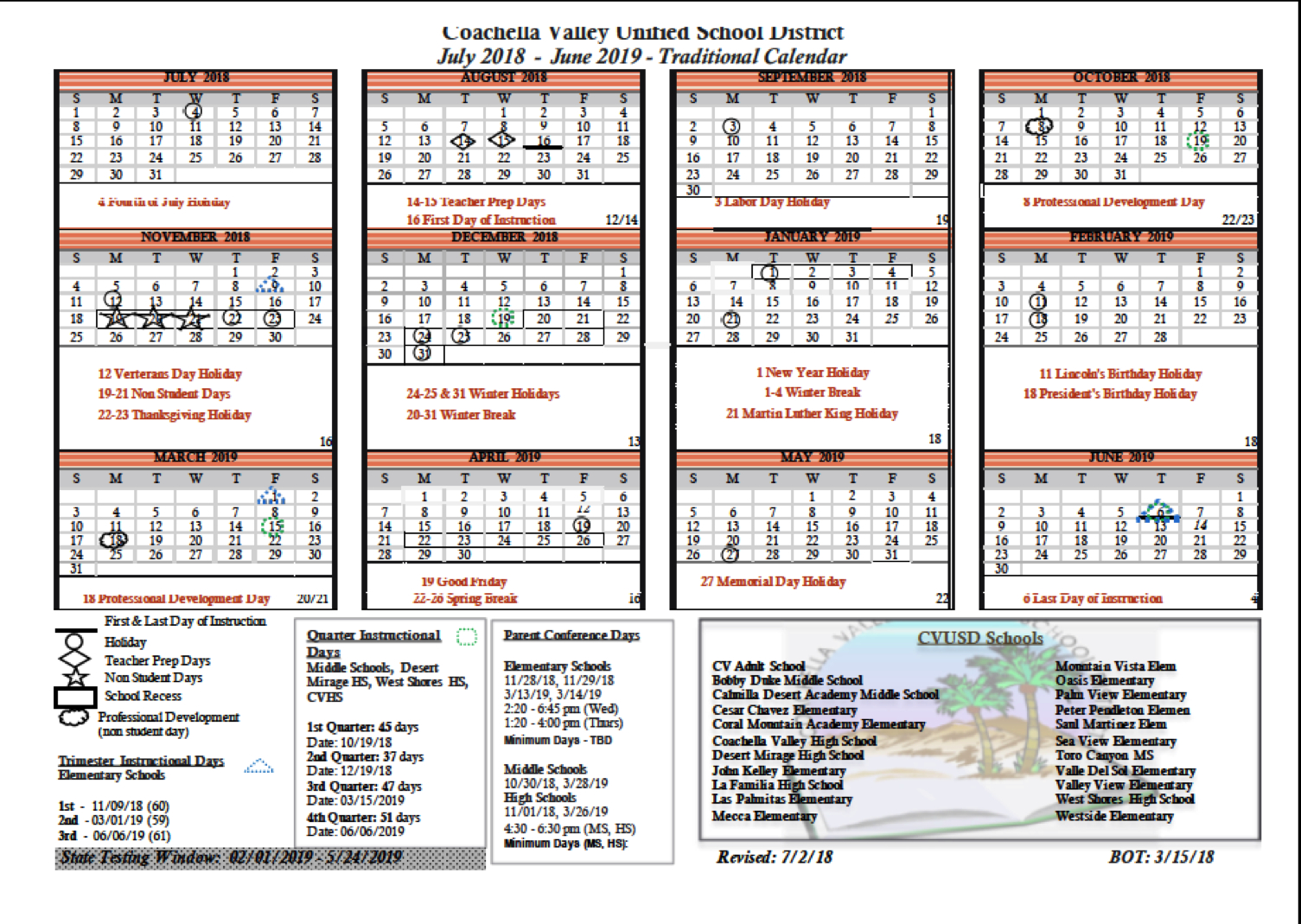 School Calendar  Bobby Duke Middle School for Tl Waggoner Calendar