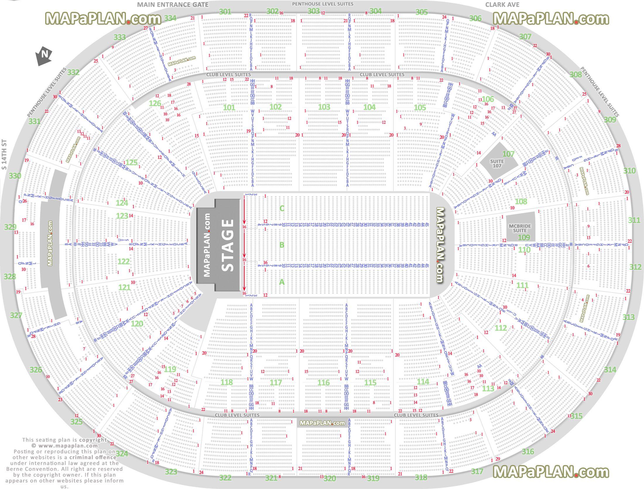 Scottrade Center Detailed Seating Chart Rows  Bobi inside Bok Center Seating Chart