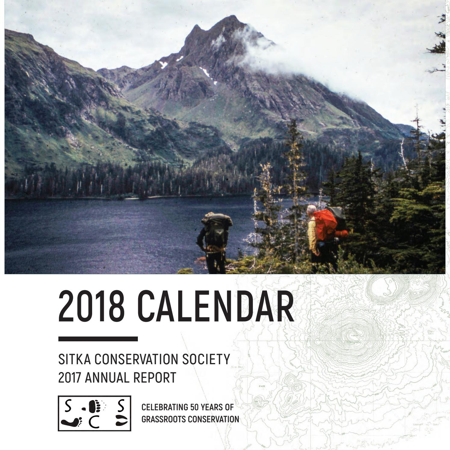 Scs 2018 Calendar By Sitka Conservation Society  Issuu pertaining to B Gale Wilson Calendar