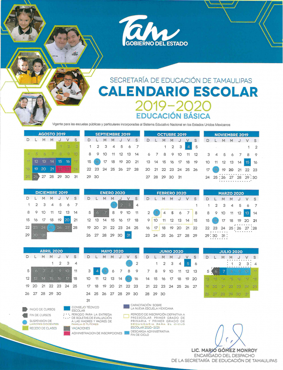 Secretaría De Educación | Gobierno Del Estado De Tamaulipas with regard to Calendario Escolar Sep 2020 2020