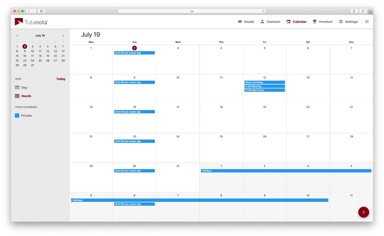 Secure Email Provider Tutanota Launches Free Encrypted Calendar. for Desktop Calendar Reminder Free Full Version