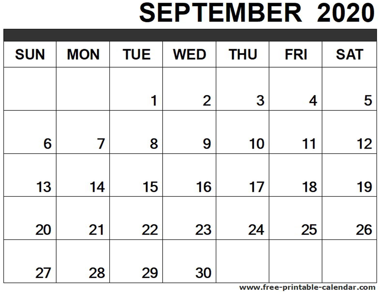 September 2020 Calendar Printable  Freeprintablecalendar intended for Calendar August And September 2020