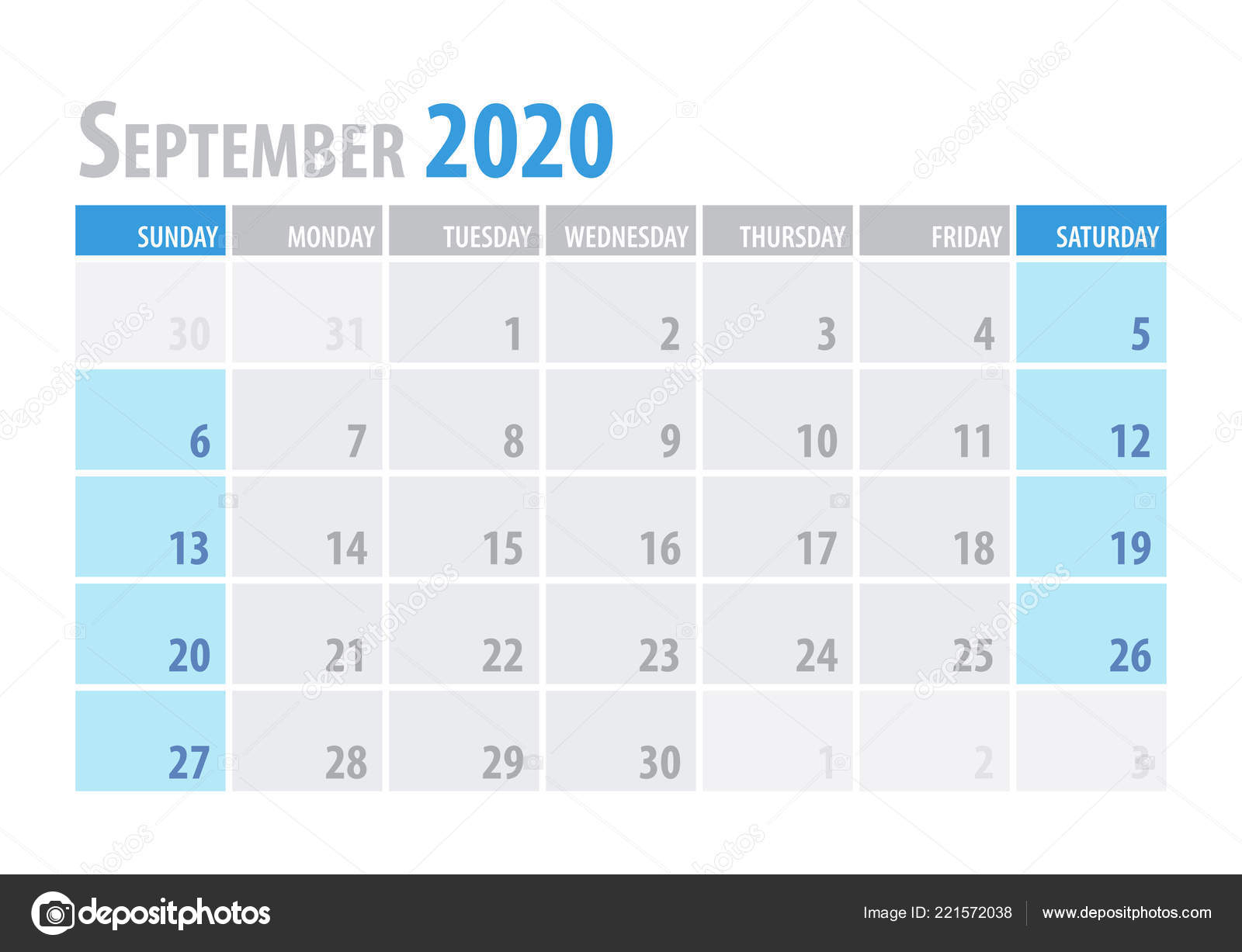 September. Calendar Planner 2020 In Clean Minimal Table with Kalendar Kuda September 2020