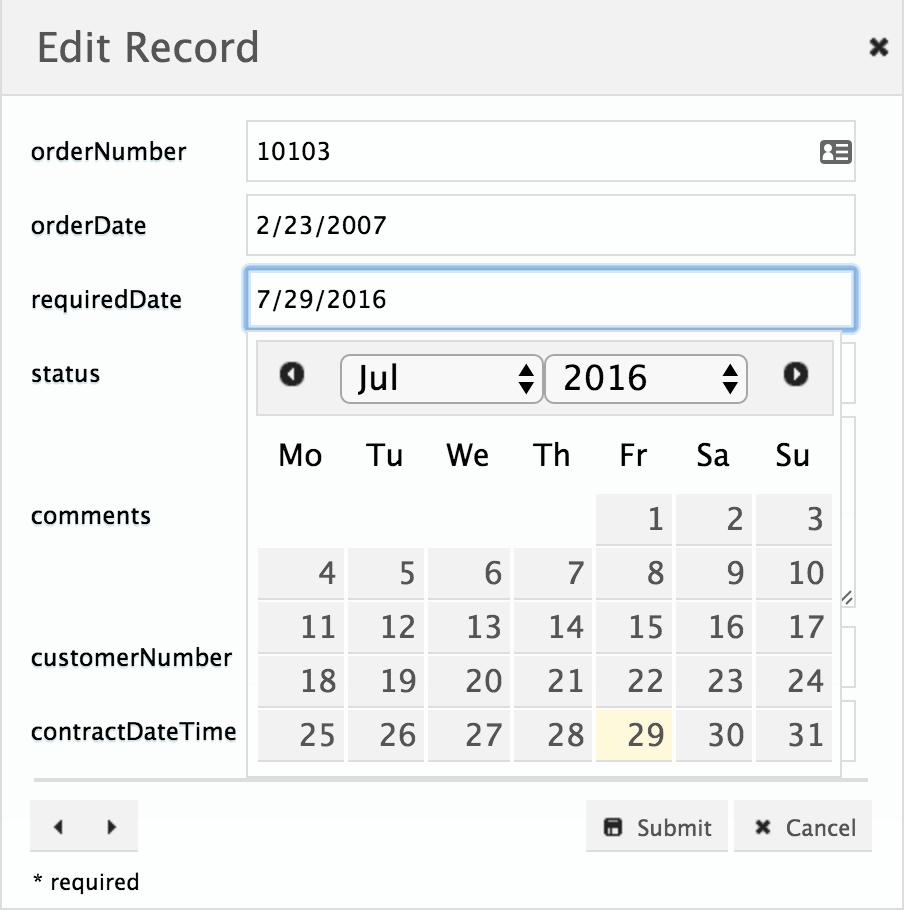 Set Start Day Of The Week In Datepicker | Phpgrid  Php Datagrid regarding Php Calendar Date Picker