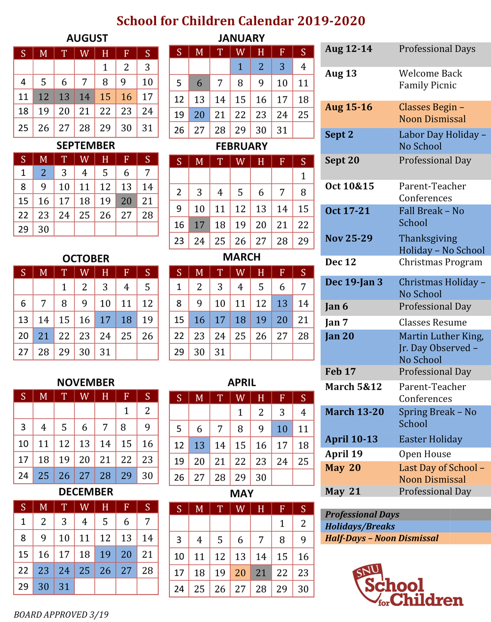 Sfc School Calendar with regard to Nicoma Park Middle School Calendar