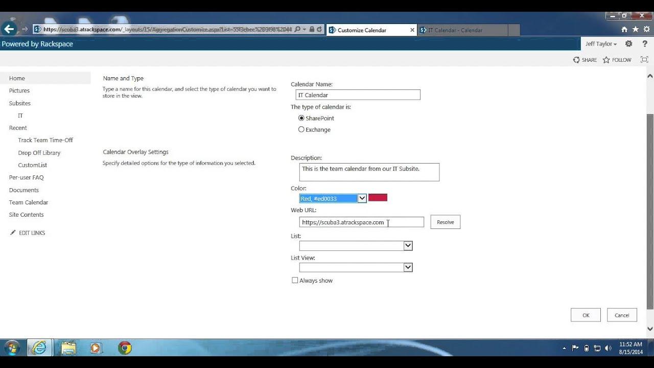 Sharepoint 2013: How To Create A Calendar Overlay regarding Sharepoint Calendar Overlay Duplicate Events