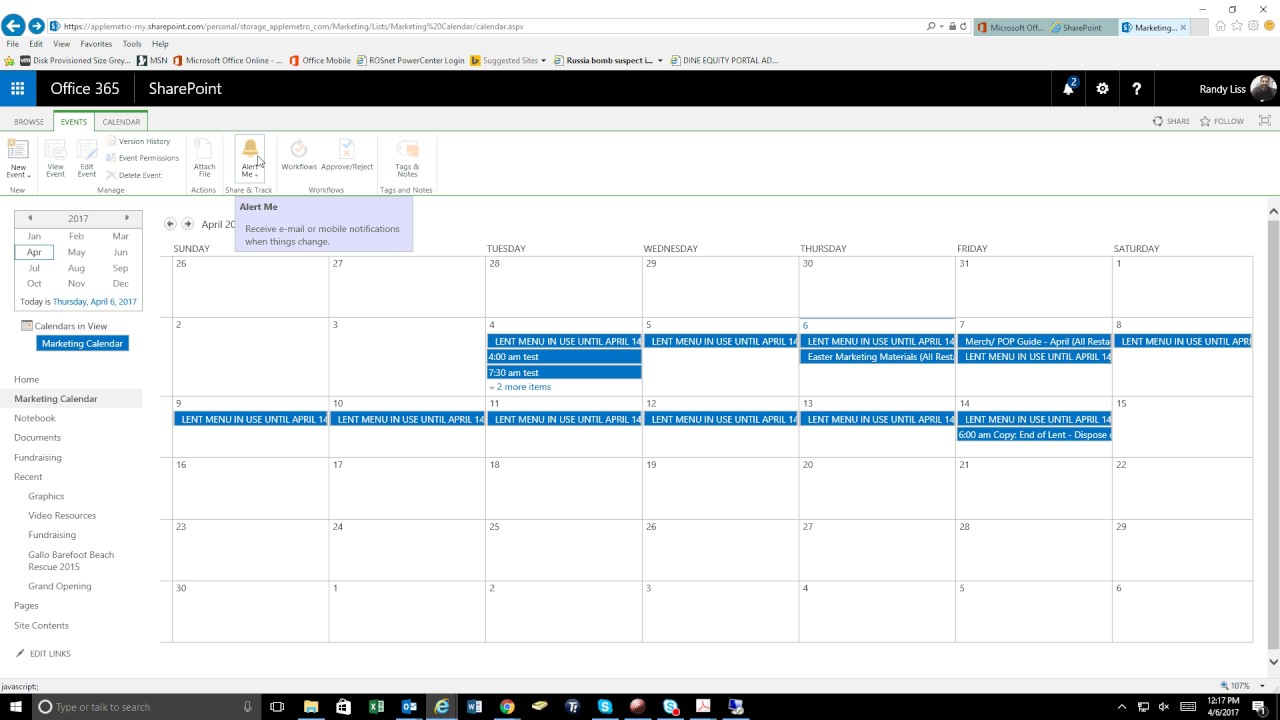 Sharepoint Calendar Alerts  Youtube in Sharepoint Calendar Invite Attendees