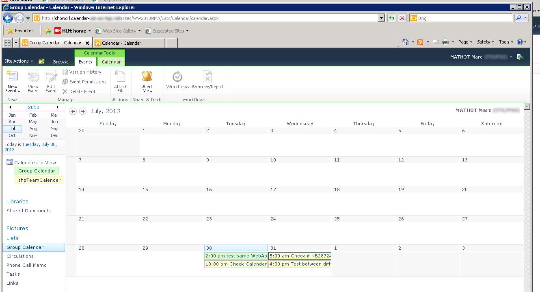 Sharepoint For Dummies: Error 404 With Calendar Overlay in Sharepoint Calendar Overlay Duplicate Events