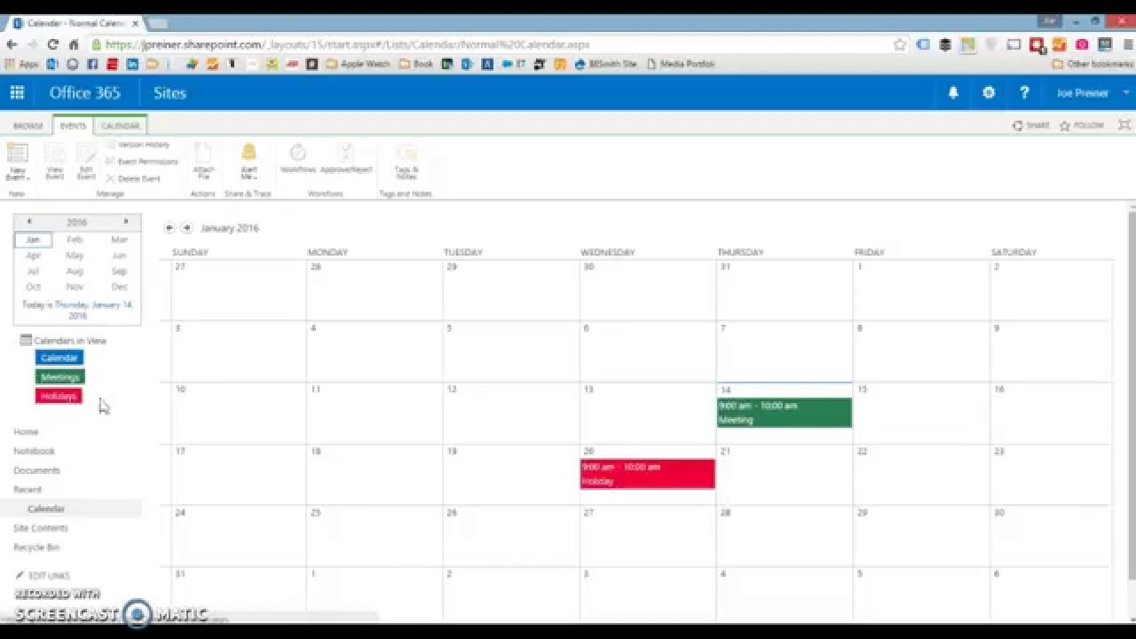 Sharepoint: How To Color Code A Calendar — Sharepoint Simply in Sharepoint Calendar Overlay Duplicate Events