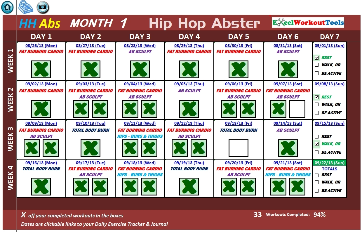 Shaun T Hip Hop Abs Schedule | Example Calendar Printable inside Hip Hop Abs Calendar