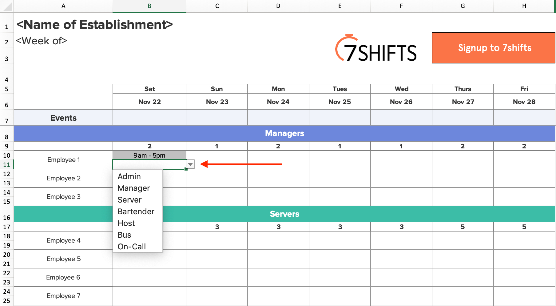 Shift Schedules: The Ultimate Howto Guide | 7Shifts throughout 12 Hour Shift Schedule Template Excel