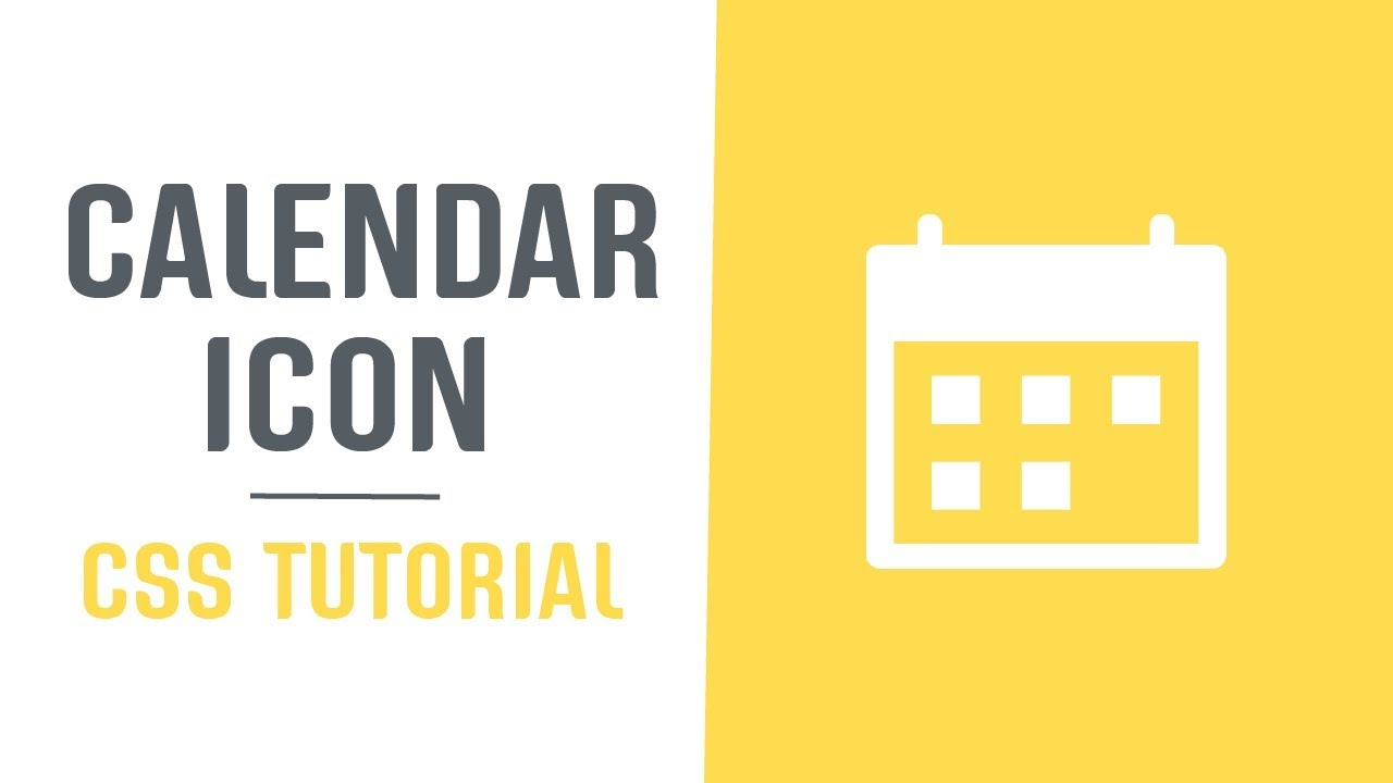Single Element + Scalable Calendar Icon | Pure Css Single Element Icons |  Css Tutorial with Css Calendar Icon