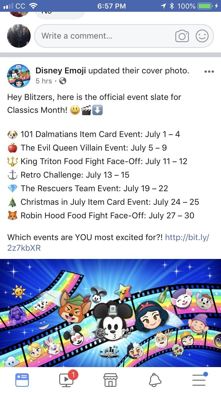 So Excited About July. Are You? What Event Are You Looking regarding Disney Emoji Blitz Events Calendar