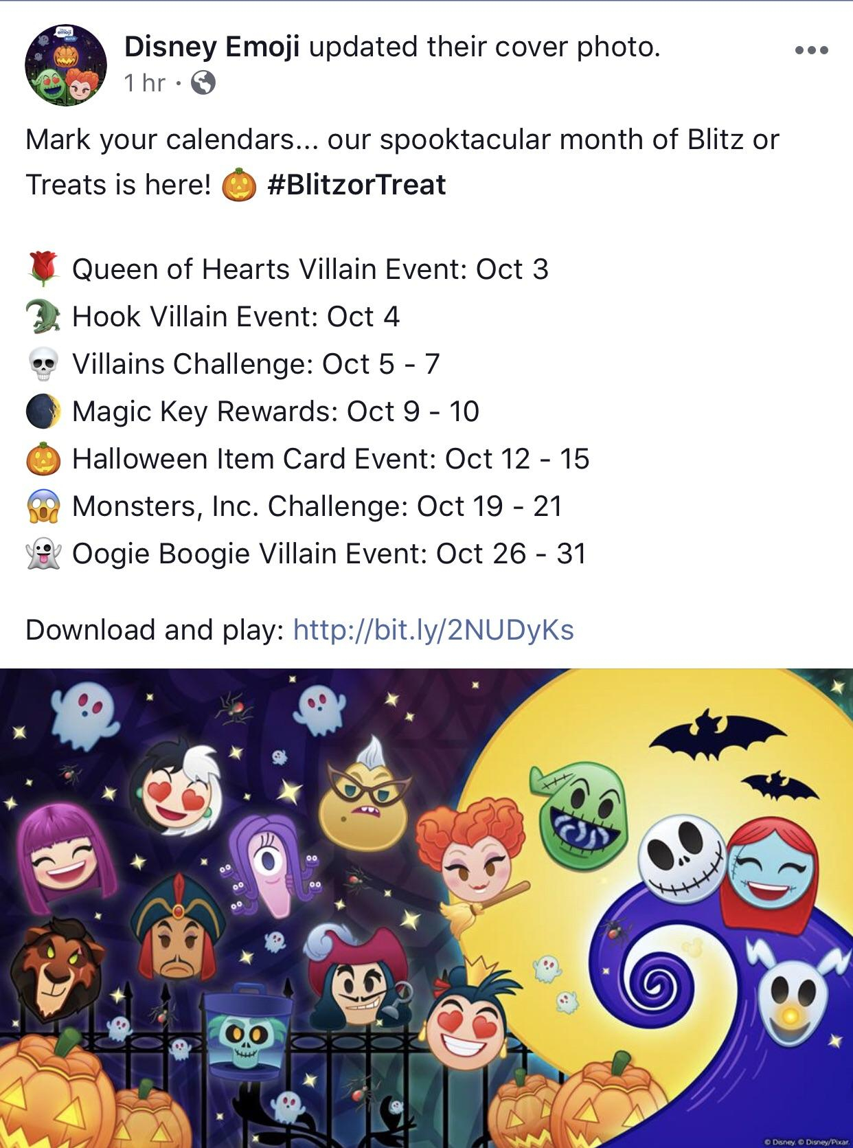 So Glad They're Giving Us The Rundown Every Month regarding Disney Blitz Calendar