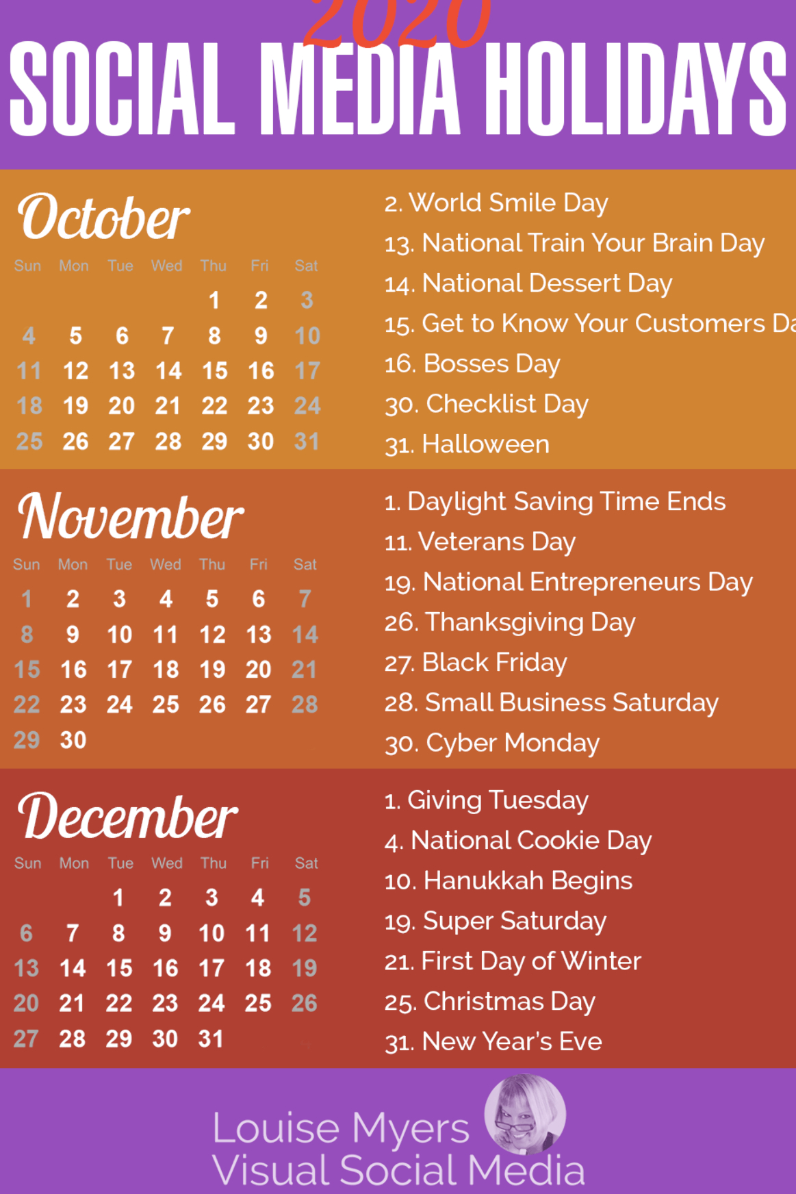 Social Media Marketing Tips: These Autumn 2020 Holidays Are in The Ultimate Social Media Holiday Calendar For 2020