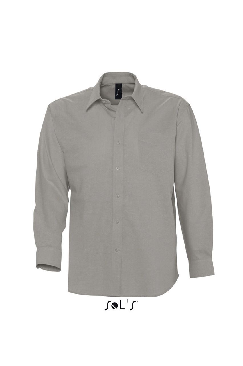 Sols Boston Shirt, Silver, 3Xl for Cuffs And Collars Boston