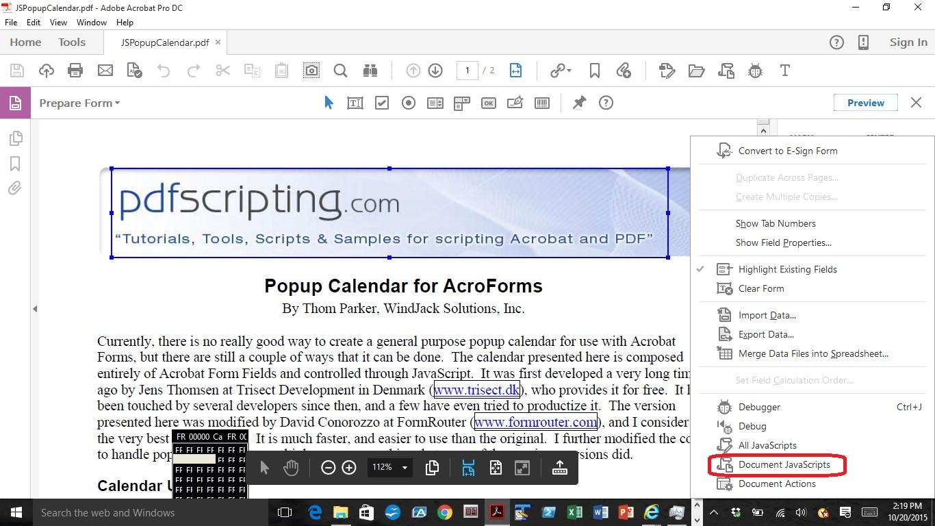 Solved: How Do I Make A Dropdown Calendar In Acrobat Dc regarding Script Calendario Photoshop