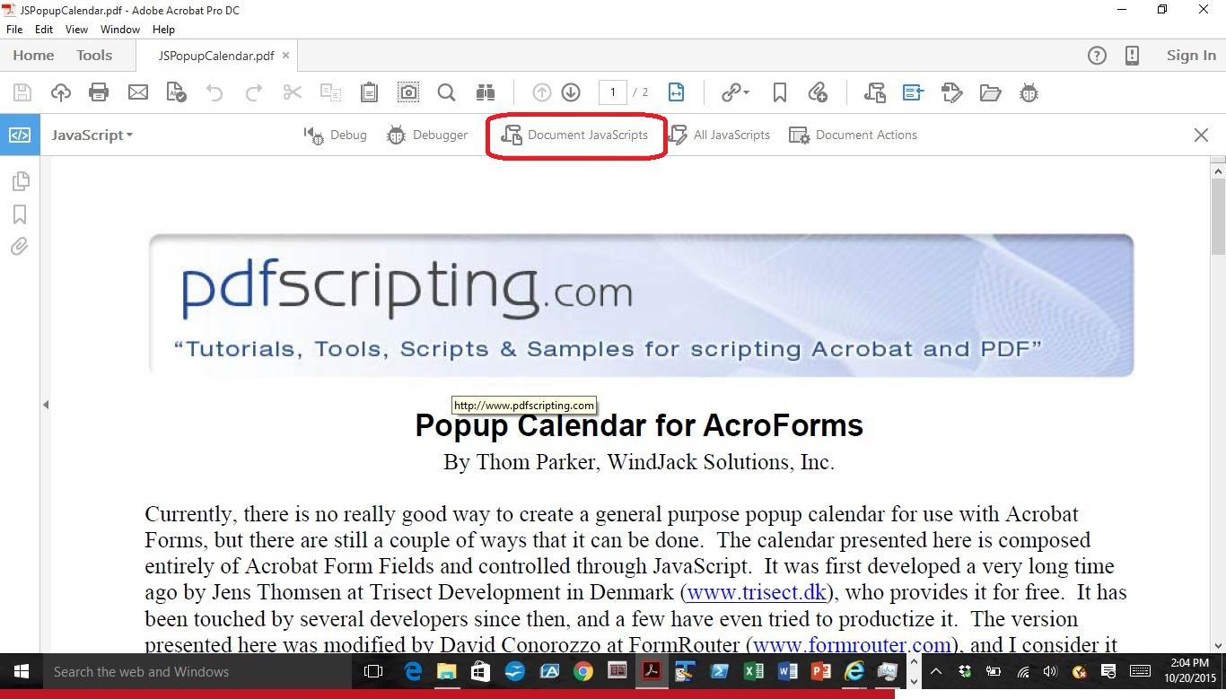 Solved: How Do I Make A Dropdown Calendar In Acrobat Dc with regard to Script Calendario Photoshop