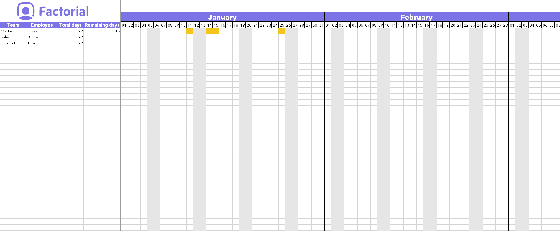 Spreadsheet Calendar Excel Download Template Time Off in Vacation Calendar Template