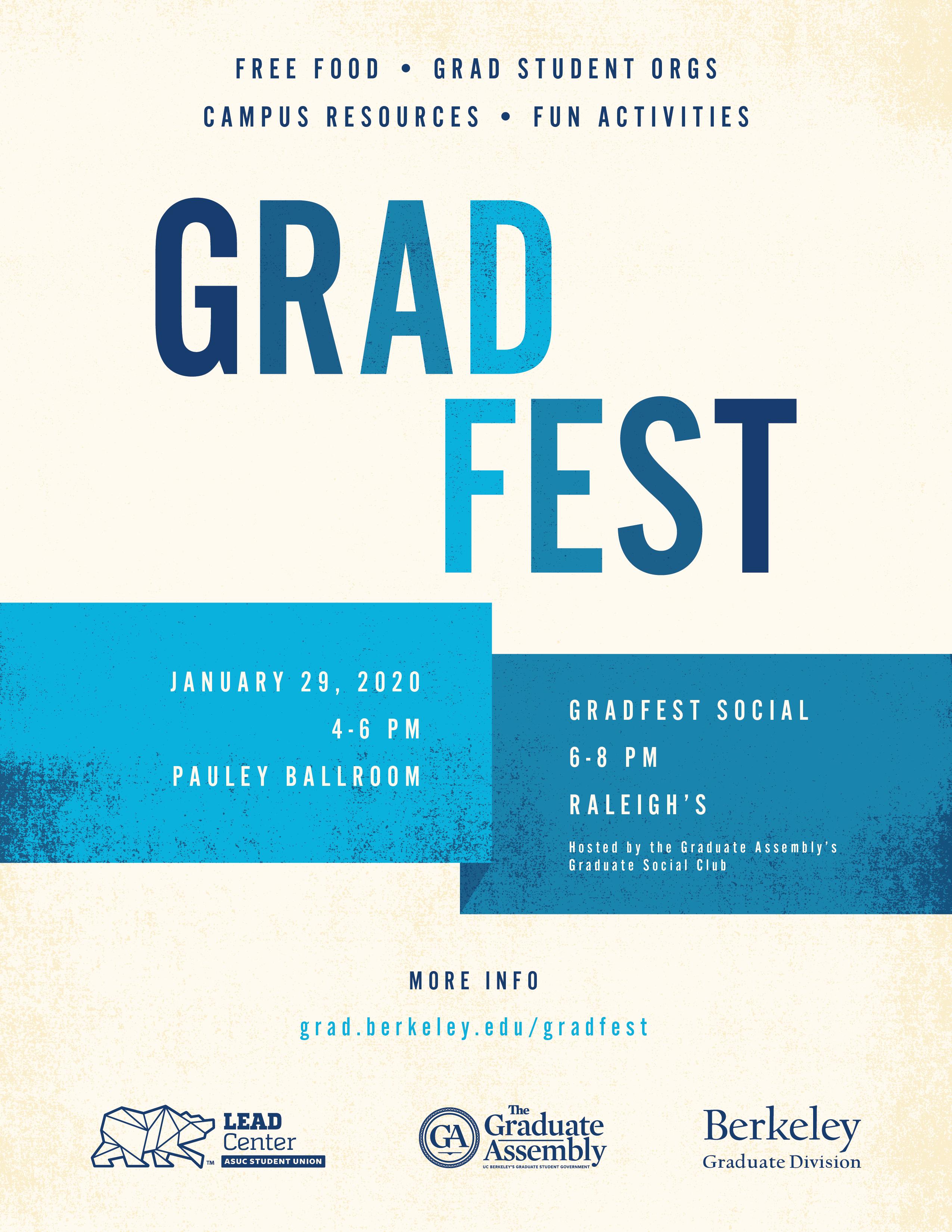 Spring 2020 Gradfest | Berkeley Graduate Division regarding Berkeley Academic Calendar 2020