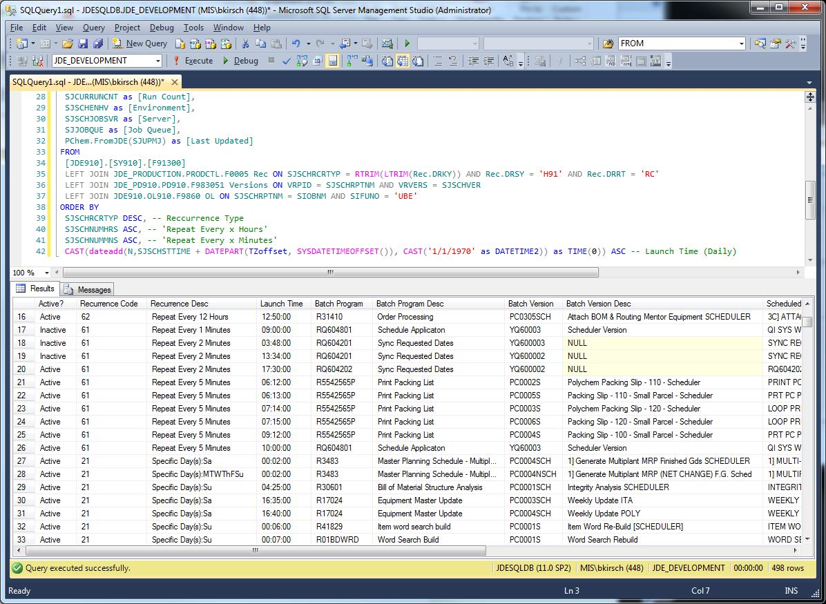 Sql] Jde Scheduler Super Query – Jde 9.1 – Technical Blog By with regard to Sql Convert Julian Date