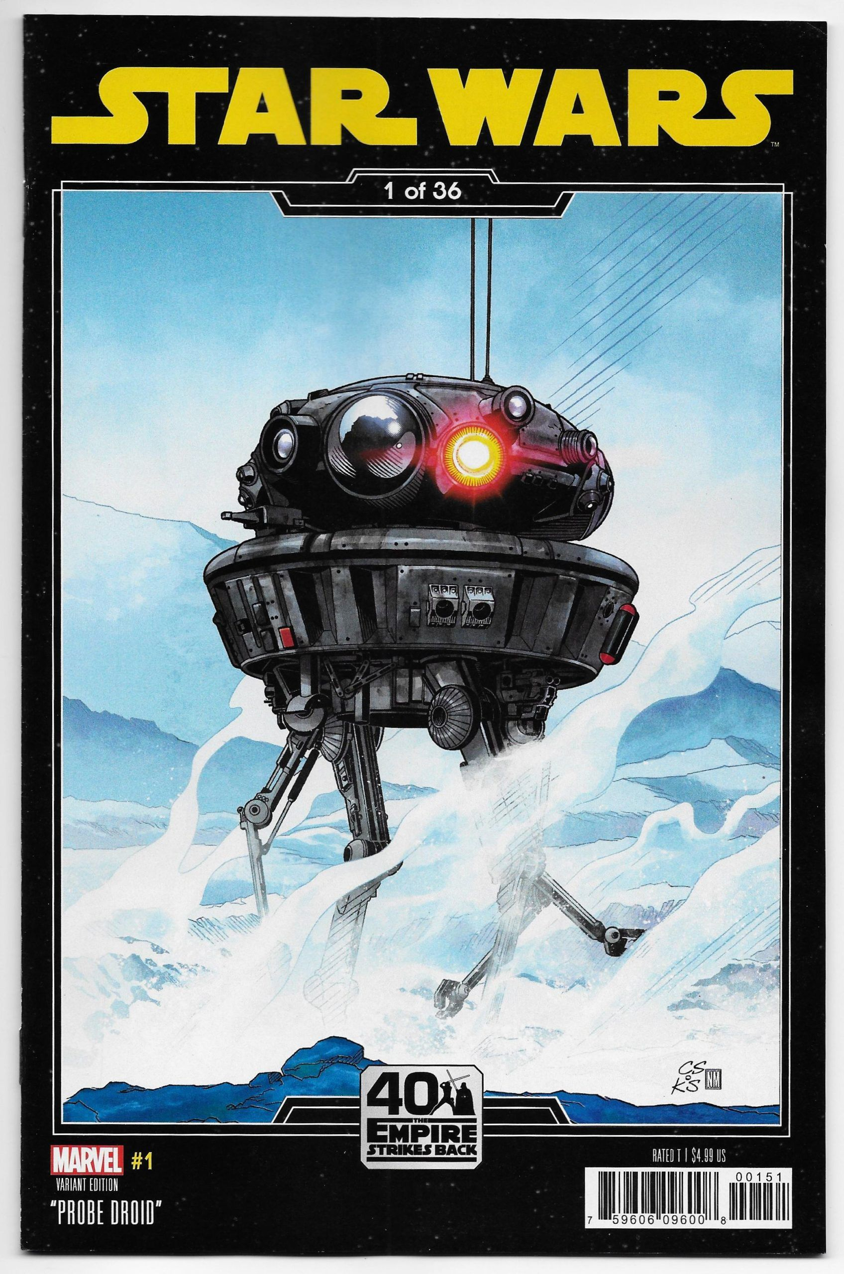 Star Wars #1 Empire Strikes Back 40Th Anniversary Variant with Empires And Puzzles Events 2020