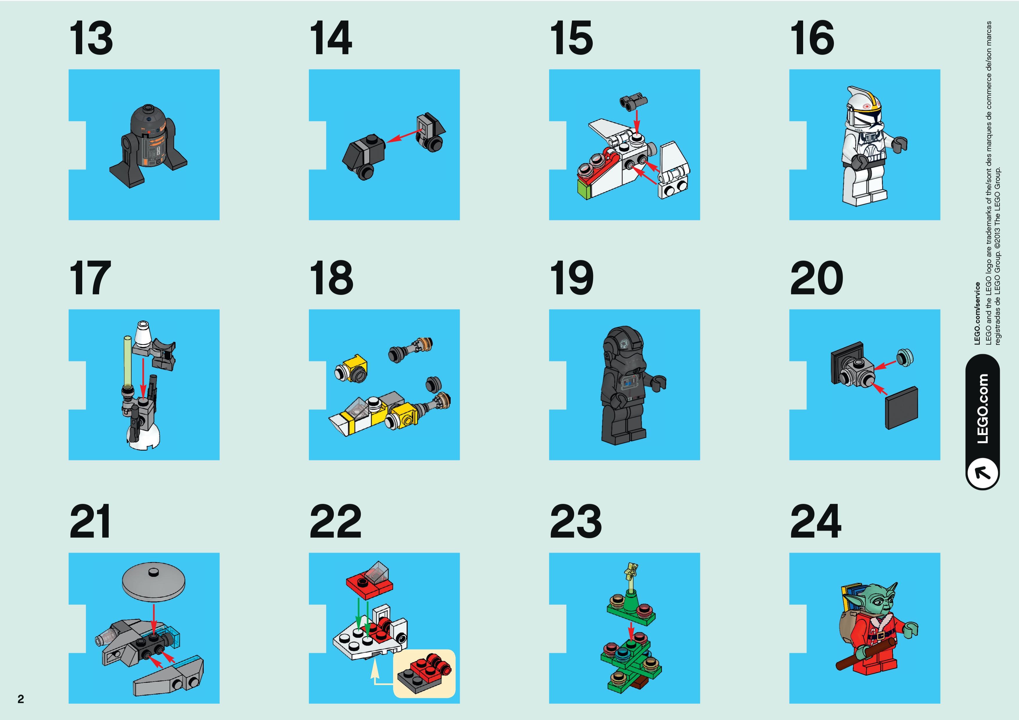 Star Wars Advent Calendar Номер 7958 Из Серии Звездные Войны regarding Lego Star Wars Calendar 2013