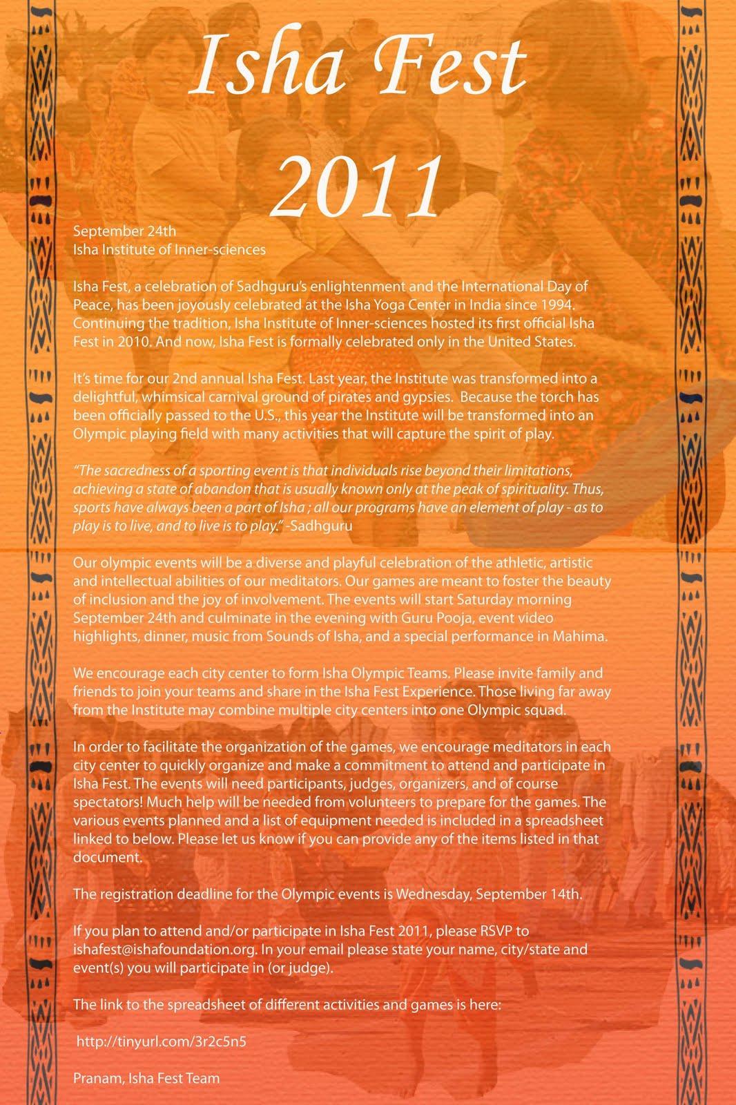 Still Is Chill: 2011 inside Isha Lunar Calendar Usa