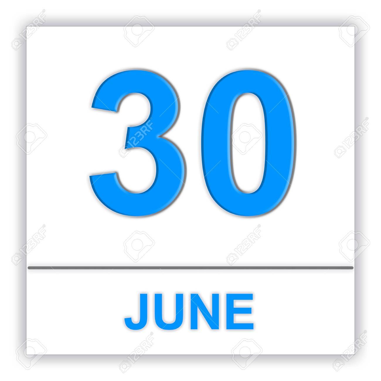Stock Illustration for 30 Day Calendar
