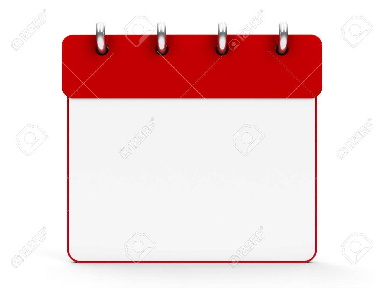 Stock Illustration pertaining to Blank Calendar Icon