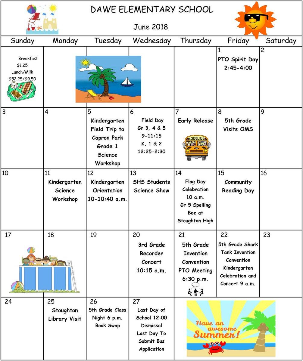 "Stoughton Schools On Twitter: ""here Is The Dawe School's pertaining to Dawe School Calendar"