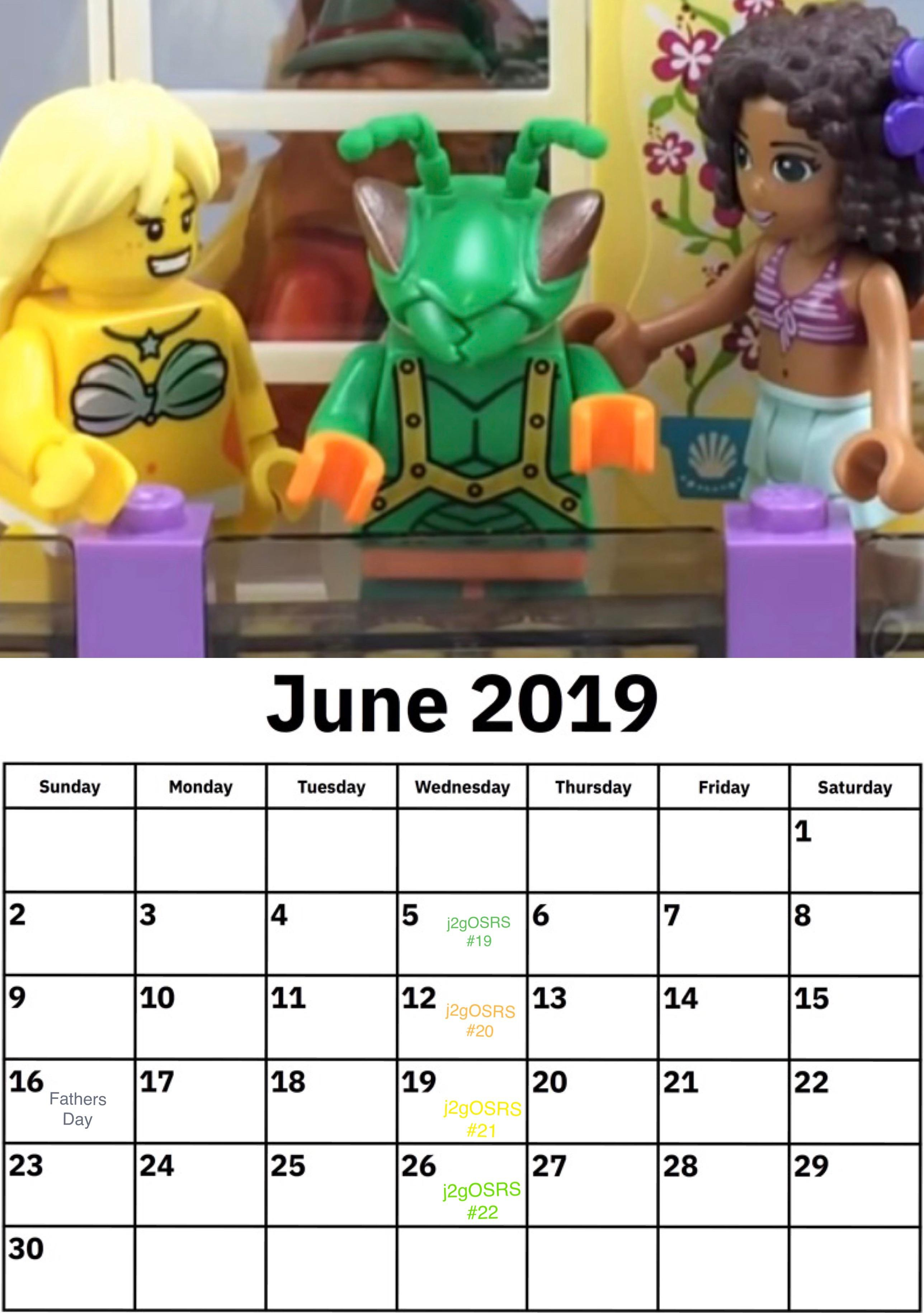 Sub Bros, Here Is Your J2G 2019 Unofficial Calendar For The within 13 Month Calendar Reddit