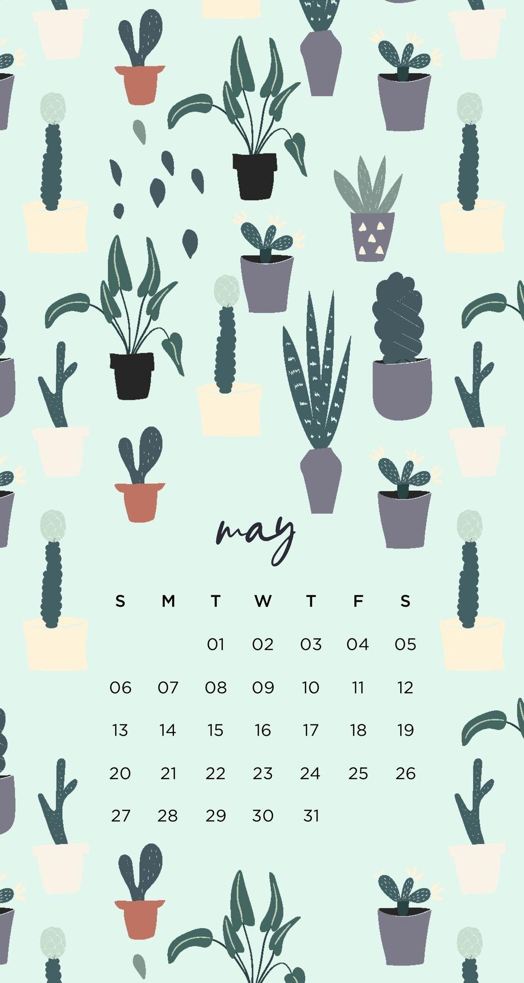 Succulent Tumblr Plant Calendar Iphone Lock Screen Emma's throughout Iphone Lock Screen Calendar
