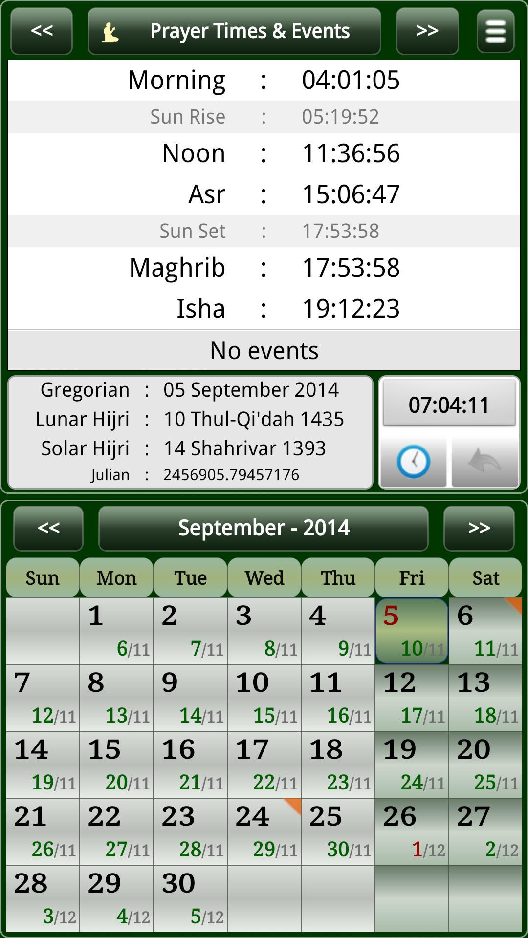 Sun & Moon Calendar Для Андроид  Скачать Apk in Isha Lunar Calendar