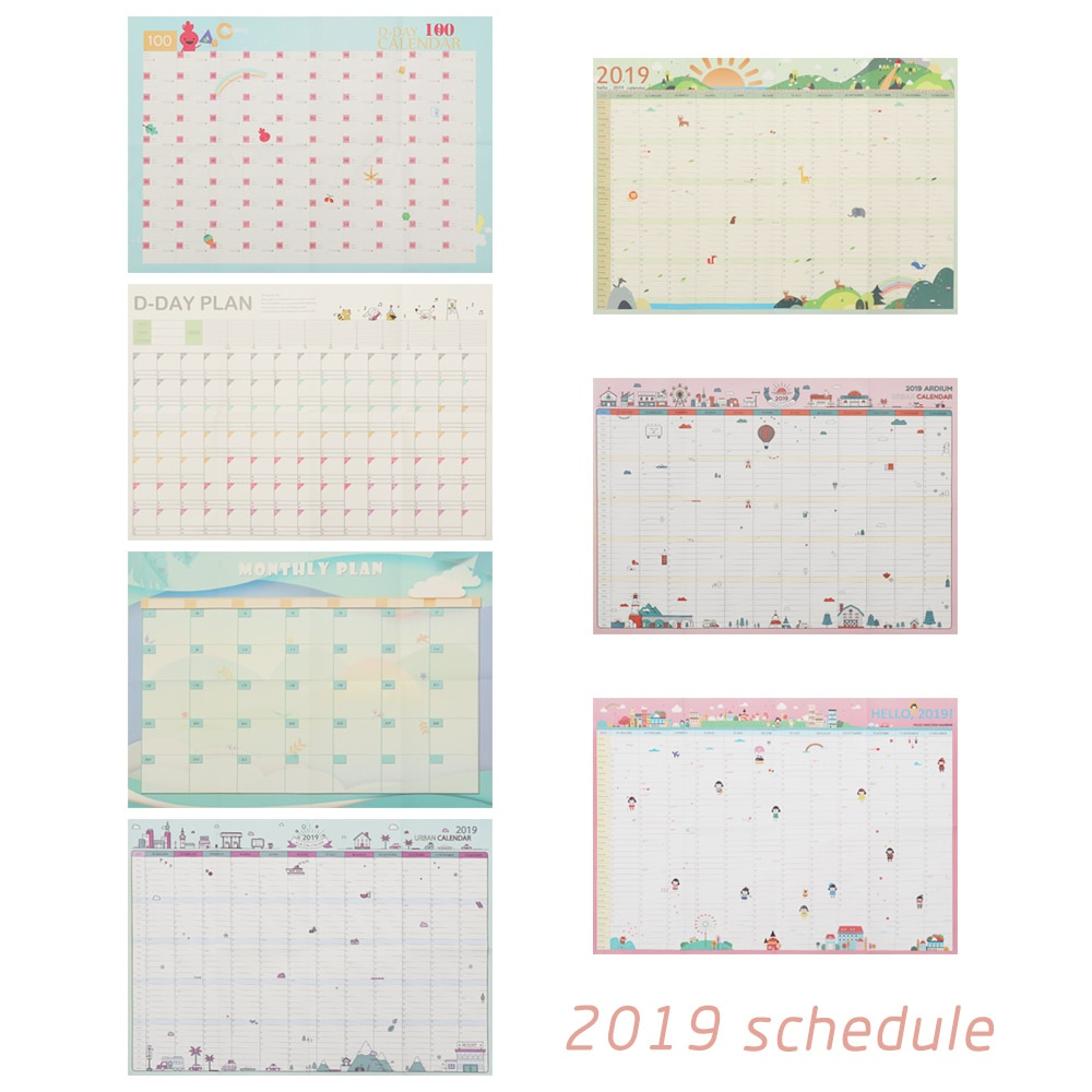 Super Deal) 2019 Year 365 Days Wall Calendar Paper Yearly for 365 Day Countdown Calendar