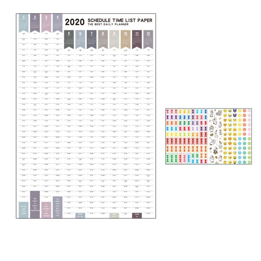 Super Promo #2200 2020 Year Wall Calendar 365 Days Daily in 365 Day Countdown Calendar