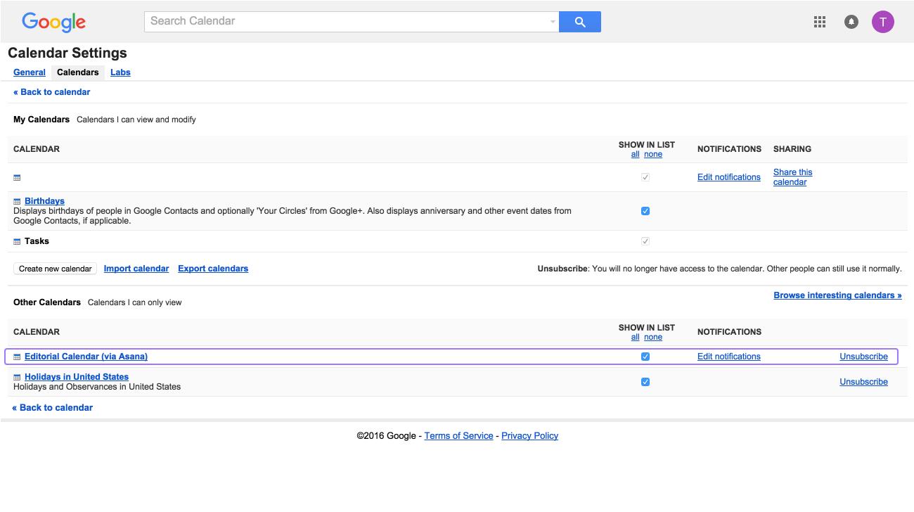 Sync Asana + Google Calendar, Outlook, Apple | Product Guide within Asana Export Calendar