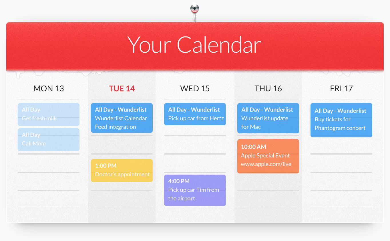 Sync Your Calendar With Wunderlist within Wunderlist Calendar App