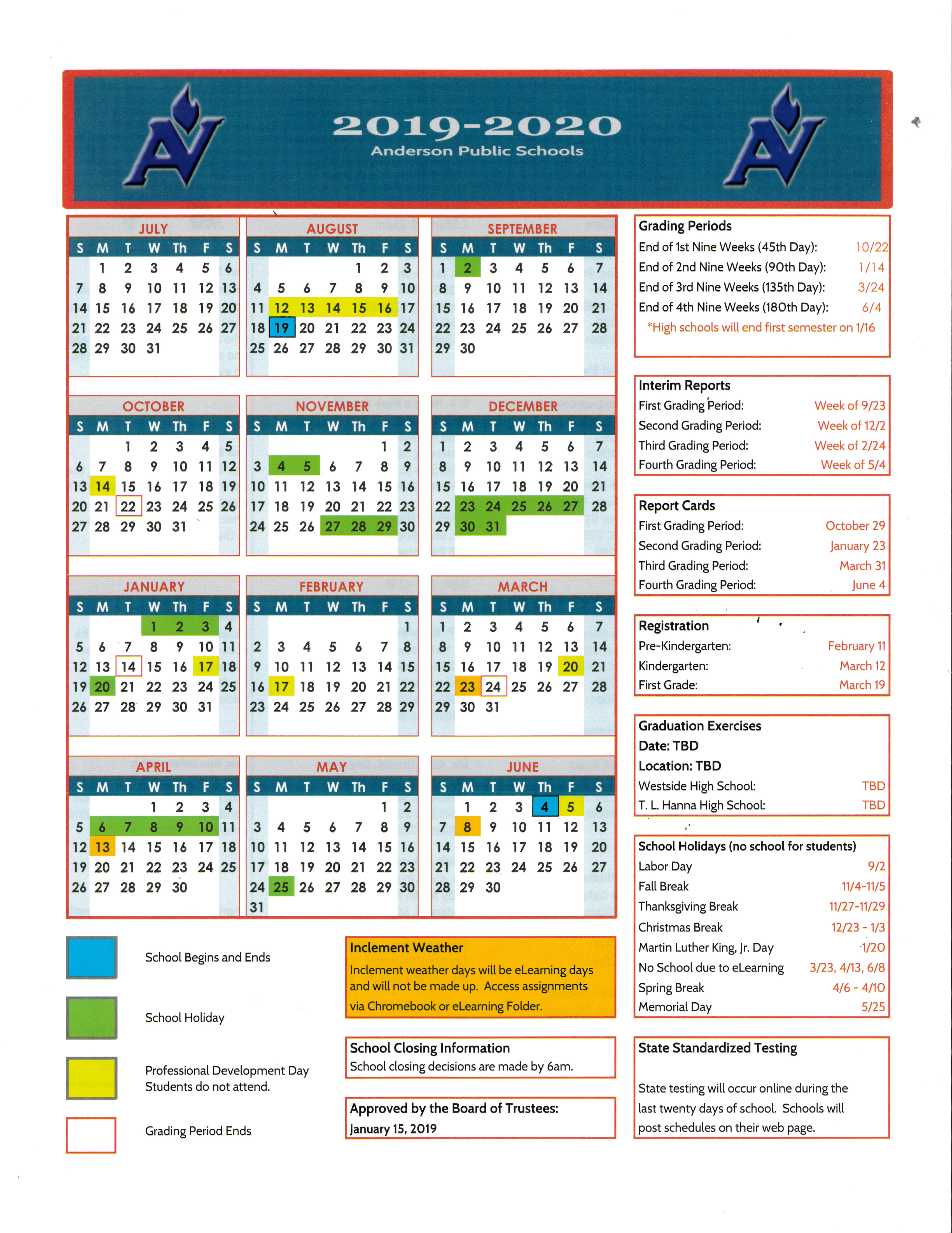 T. L. Hanna High School  Homepage regarding Tl Hanna School Calendar