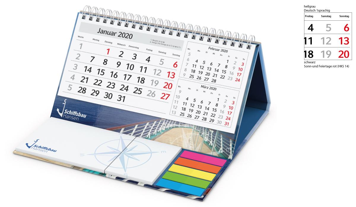 Table Calendar 2020 Delta A | 3Month Planner With Logo Printed |  Deprismedia regarding 3 Month Calendar Holder