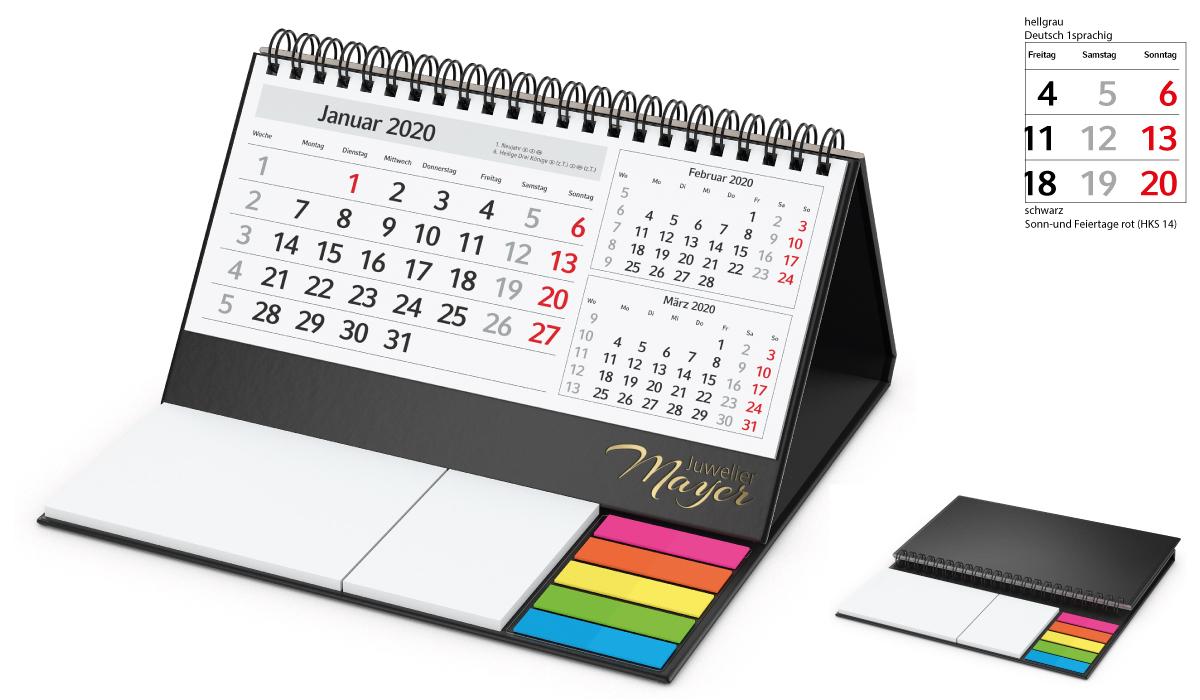 Table Calendar 2020 Delta C | 3Month Planner With Logo Printed |  Deprismedia for 3 Month Calendar Holder