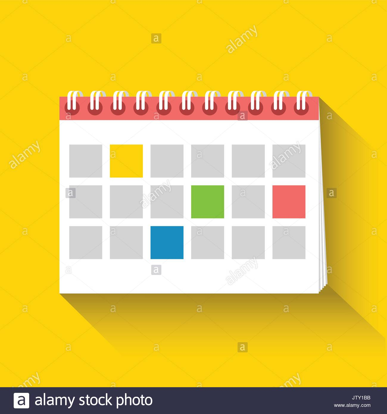 Table Calendar Flat Icon. Flat Design. Vector Illustration regarding Calendar Flat Design