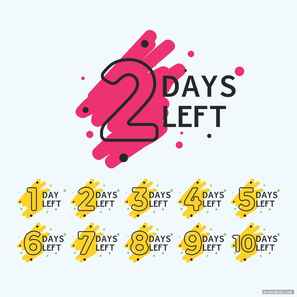 Tear Off Countdown Calendar Printable  Printabler in Make A Countdown Calendar Printable