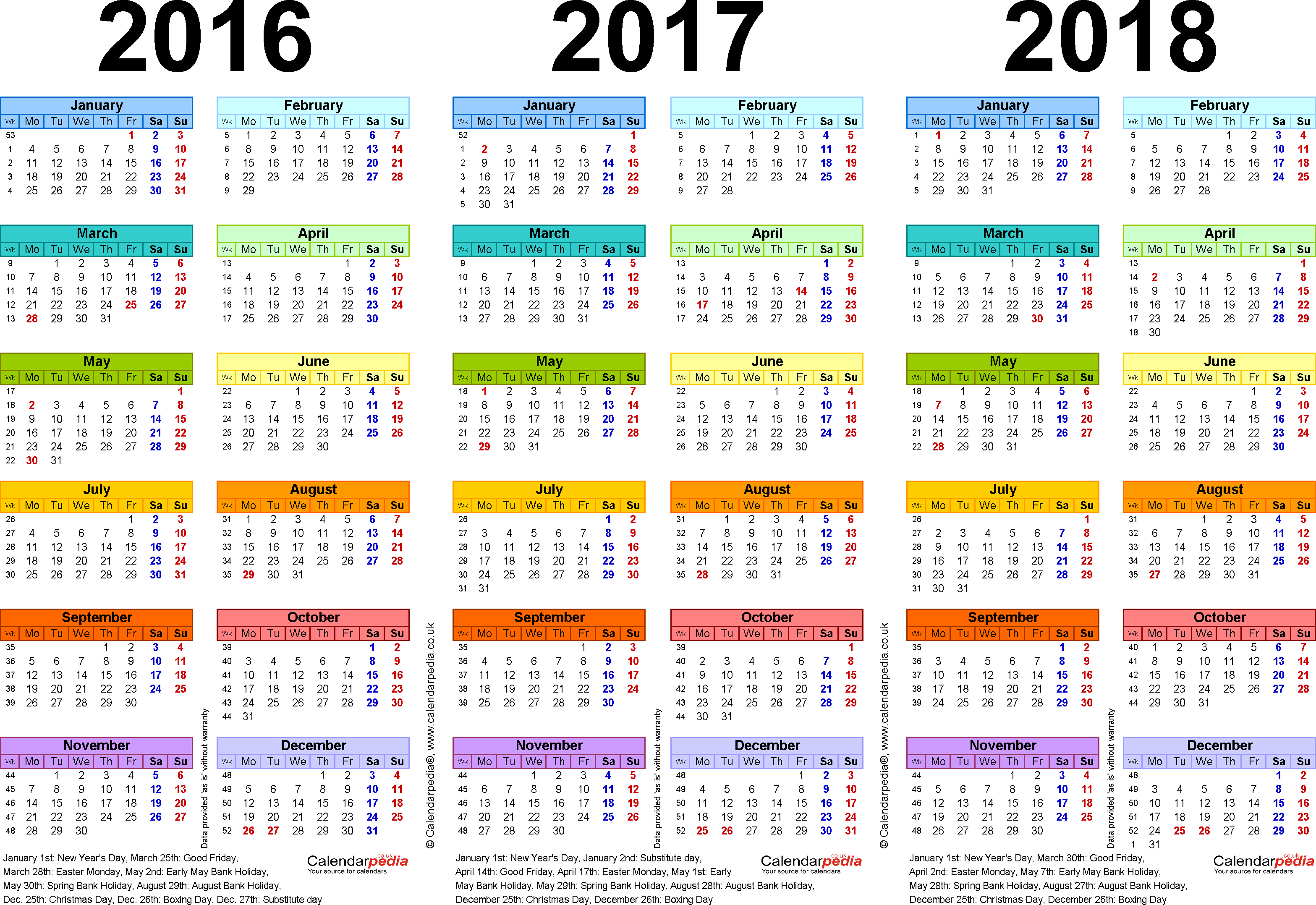 Template 1: Pdf Template For Three Year Calendar 20162017 with 3 Year Calendar Printable