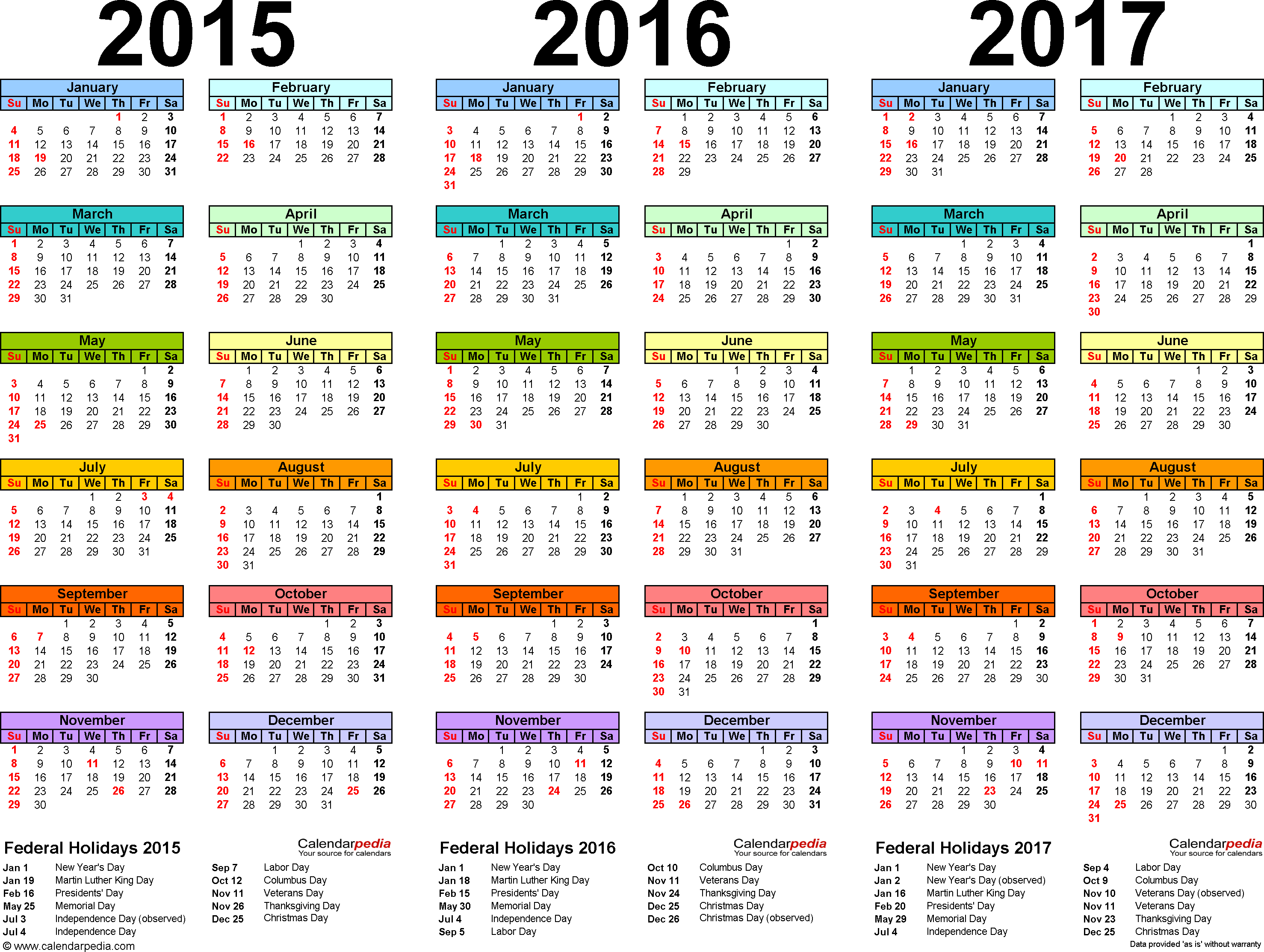 Template 1: Word Template For Three Year Calendar 20152016 regarding Three Year Calendar Printable