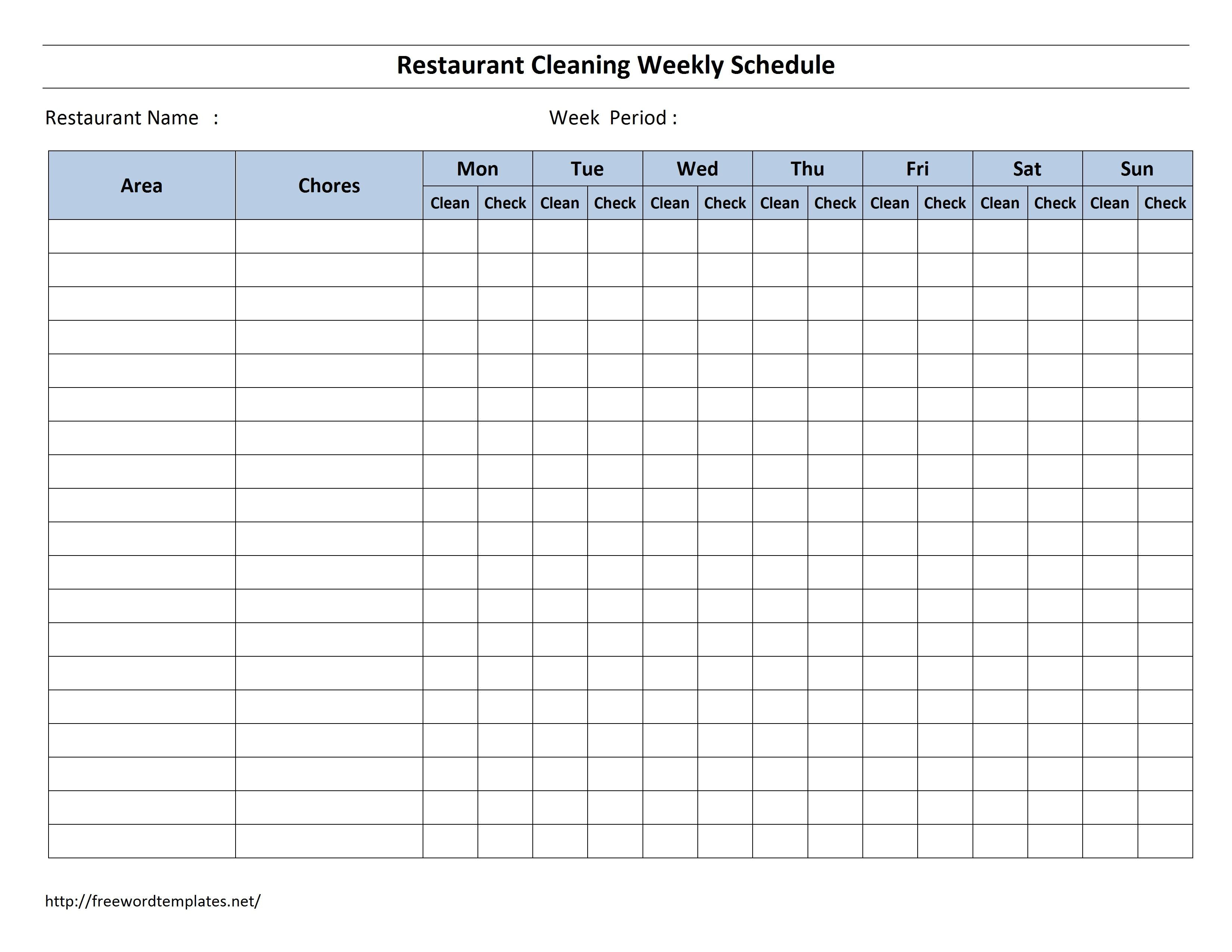 Template For Cleaning Checklist  Topa.mastersathletics.co regarding Printable Blank Checklist