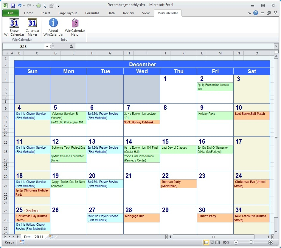 Template For Montlhy Calendar Of Events  Calendar intended for Event Calendar Template Excel